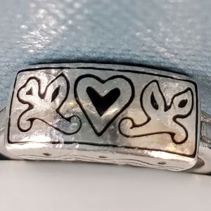 Brighton Sterling Silver Heart Band Ring
